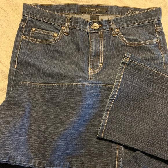 Calvin Klein Jeans Denim - Calvin Klein stretchy denim bootcut jeans size 8